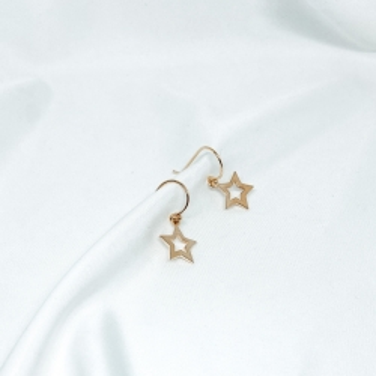 Kolczyki LOCO STAR srebrne pozłacane z gwiazdkami