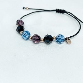 Bransoletka sznurkowa LARA z kryształkami Swarovskiego