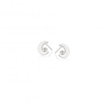 Kolczyki DIAMONDS białe złoto 585 z brylantami i księżycami
