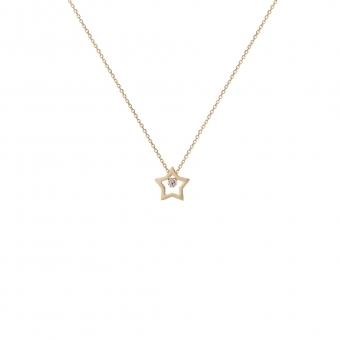 Naszyjnik DIAMONDS złoty 585 z brylantem i gwiazdką