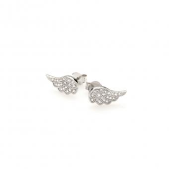Kolczyki GLAMOUR srebrne skrzydło