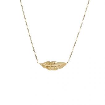 Naszyjnik SOFT złoty z piórkiem
