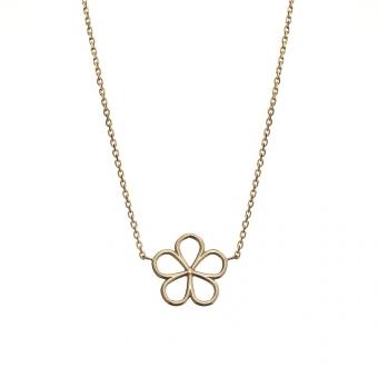 Naszyjnik SOFT złoty z kwiatkiem