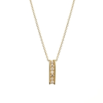 Naszyjnik DIAMONDS złoty 585 z brylantami