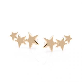 Kolczyki GOLDEN EYE złote gwiazdki