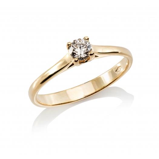 Pierścionek DIAMONDS złoty 585 z brylantem