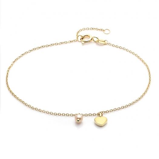 Bransoletka DOLCE VITA złota z perłą