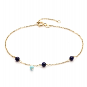 Bransoletka DOLCE VITA złota z lapisem lazuli