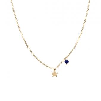 Naszyjnik DOLCE VITA złoty z lapisem lazuli i gwiazdką