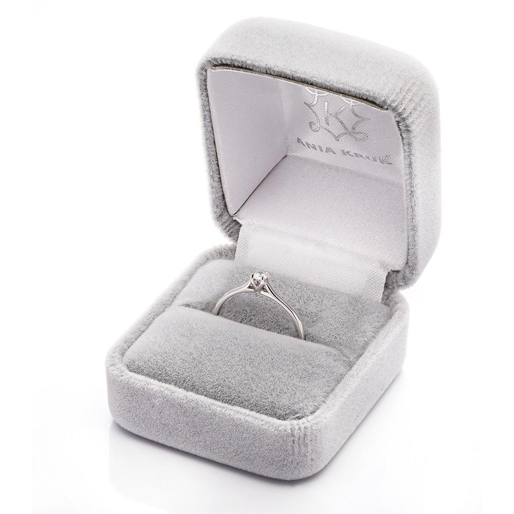 Pierścionek DIAMONDS białe złoto 585 z brylantem