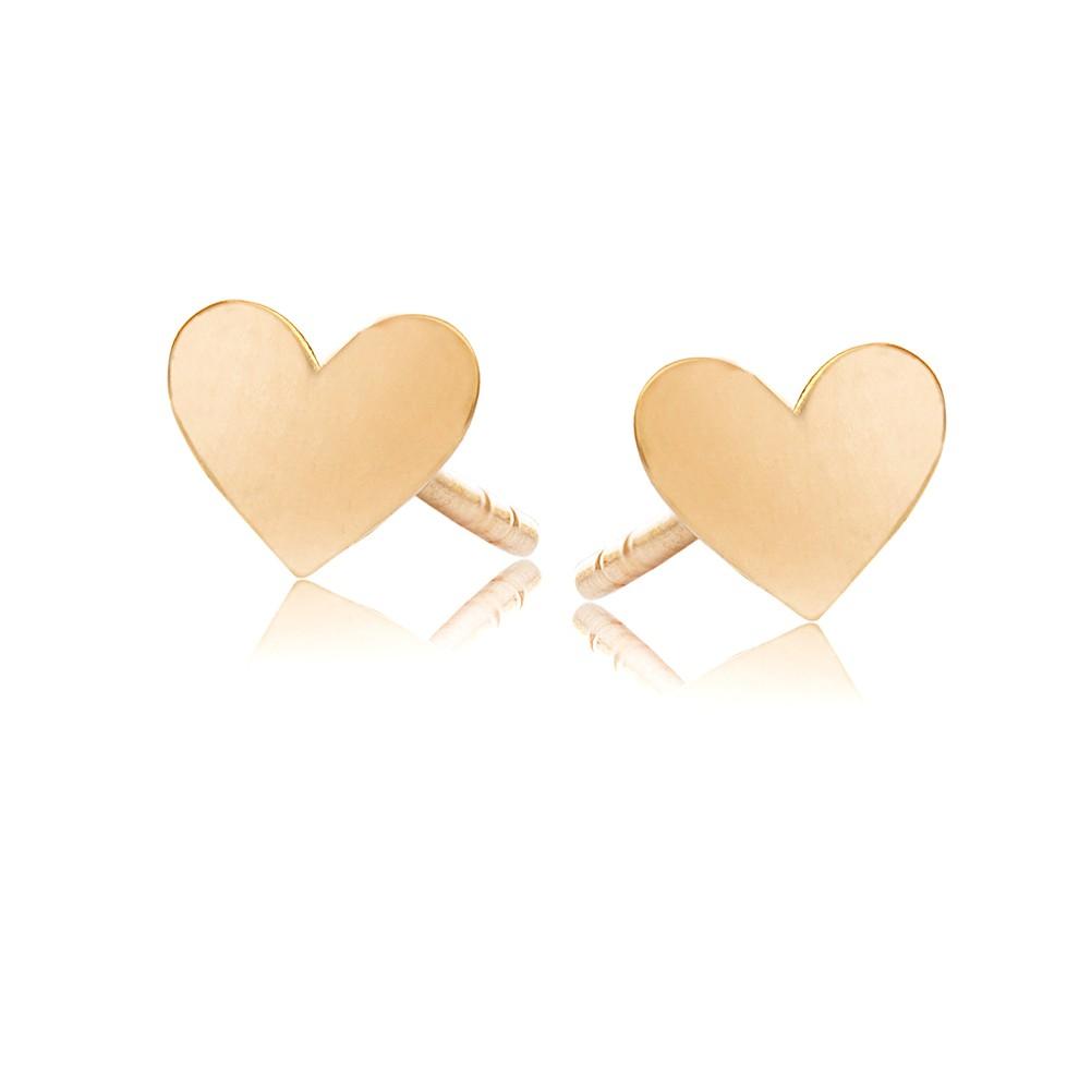 Kolczyki SOFT złote serca