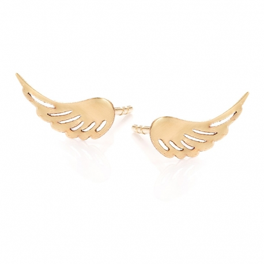 Kolczyki GOLDEN EYE złote skrzydło