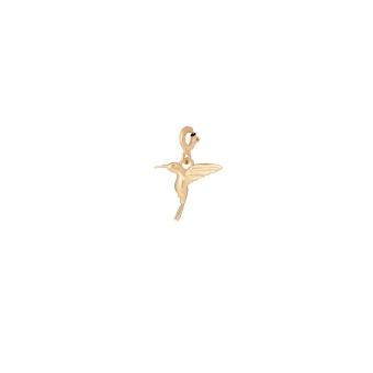 Charms MIX IT srebrny pozłacany z kolibrem