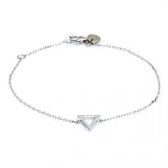 Bransoletka URBAN CHIC srebrna z trójkątem