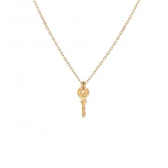 Naszyjnik BELIEVE srebrny pozłacany z kluczem