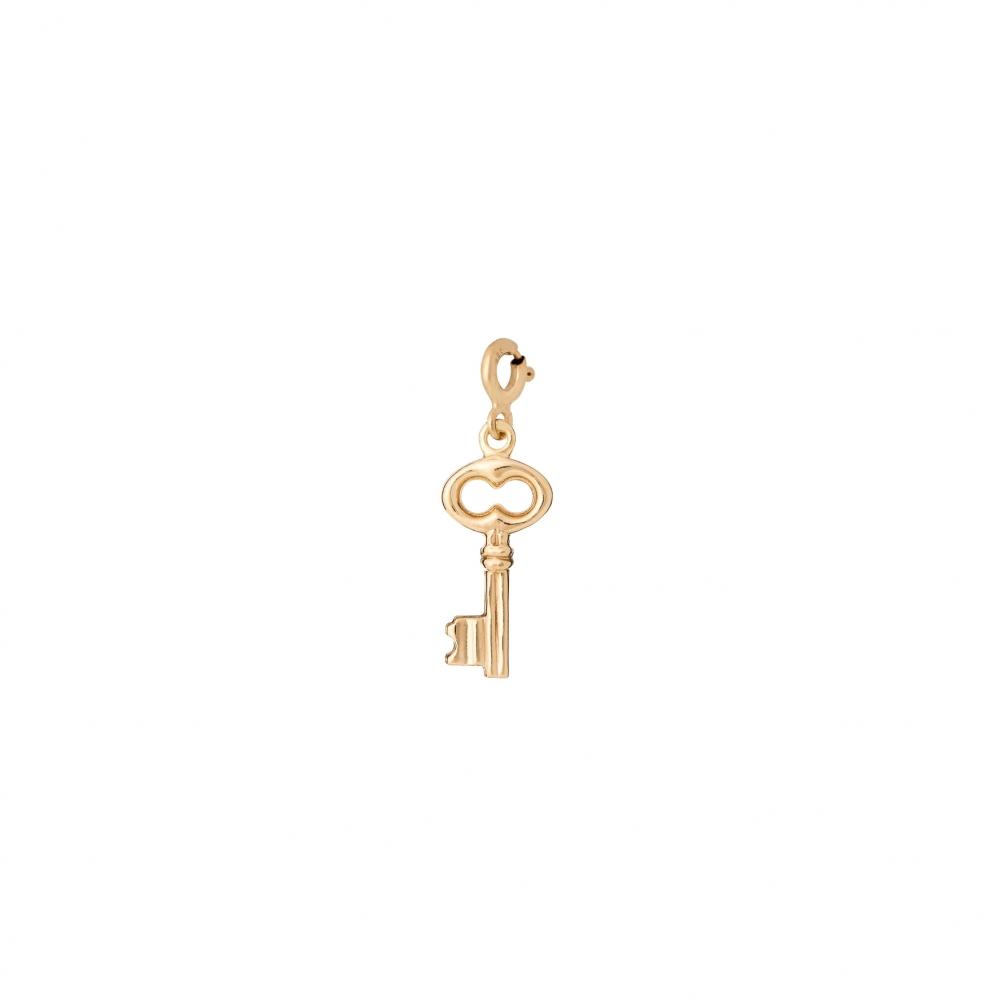 Charms MIX IT srebrny pozłacany z kluczem