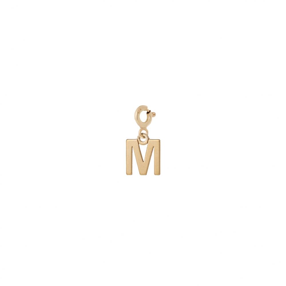 Charms MIX IT srebrny pozłacany z literką M