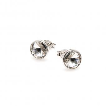 Kolczyki AIDA srebrne z kryształem Swarovskiego