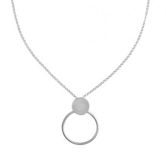 Naszyjnik  KASJOPEJA srebrny z kółkiem