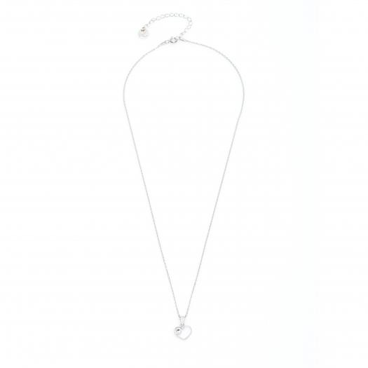 Naszyjnik MINI srebrny z ażurowym sercem