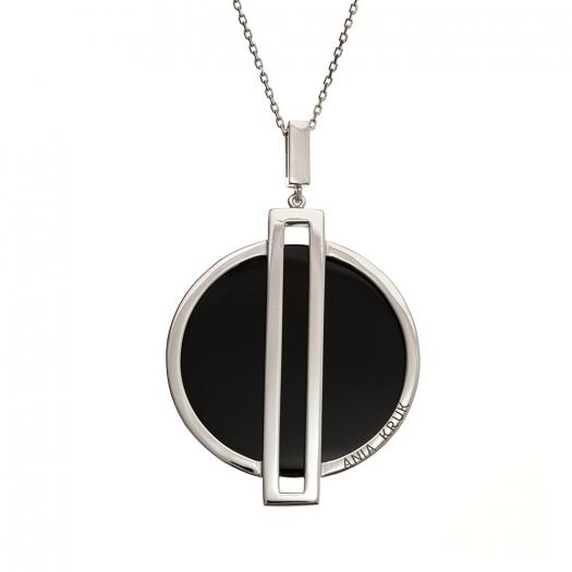 Naszyjnik FRAMES srebrny z onyksem