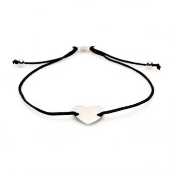 Bransoletka sznurkowa ROMANTICA z serduszkiem