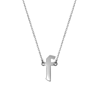 Naszyjnik E. JAK EMOCJE srebrny z literą F