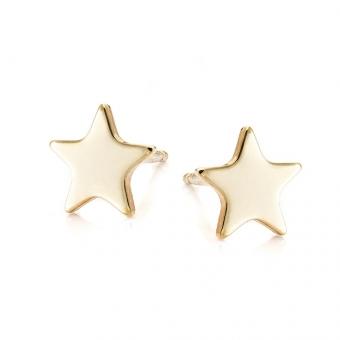 Kolczyki LOCO STAR srebrne pozłacane gwiazdka