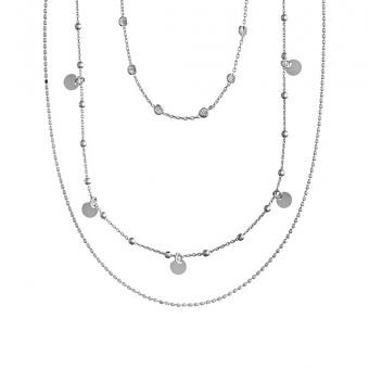 Naszyjnik potrójny COSMO srebrny