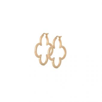 Kolczyki URBAN CHIC srebrne pozłacane z koniczynką