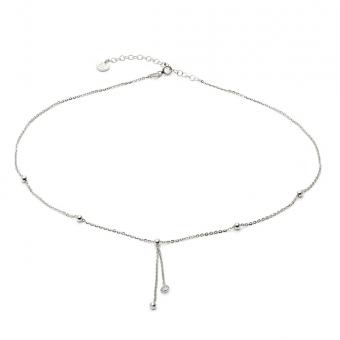 Naszyjnik GLAMOUR srebrny z cyrkonią