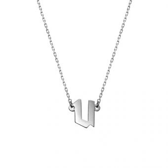 Naszyjnik E. JAK EMOCJE srebrny z literą U