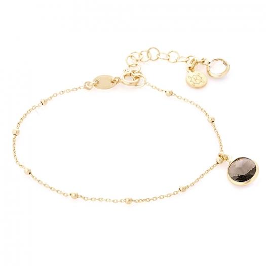Bransoletka AIDA srebrna pozłacana z kryształem Swarovskiego