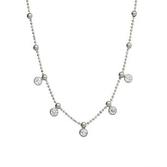 Naszyjnik GLAMOUR srebrny z cyrkoniami