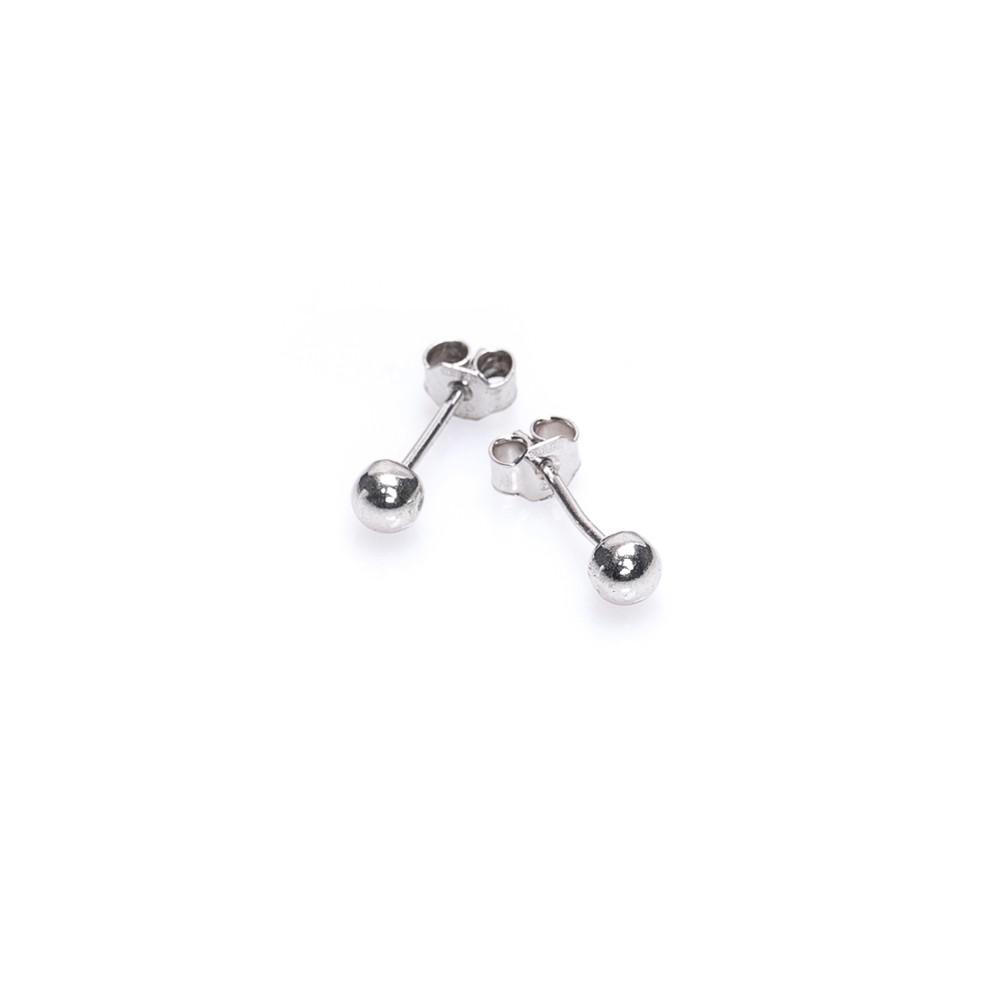Kolczyki OVAL srebrne z kuleczką
