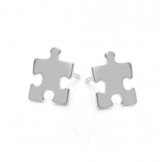 Kolczyki BELIEVE srebrne puzzel