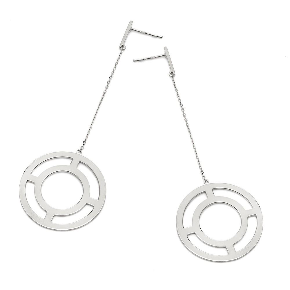 Kolczyki FRAMES srebrne z kółkiem