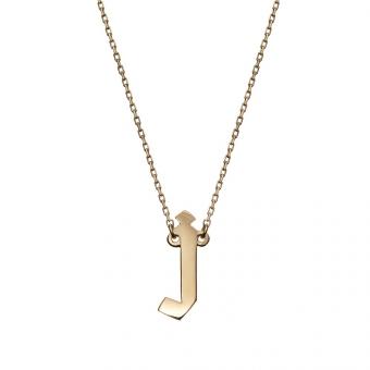 Naszyjnik E. JAK EMOCJE srebrny pozłacana z literą J