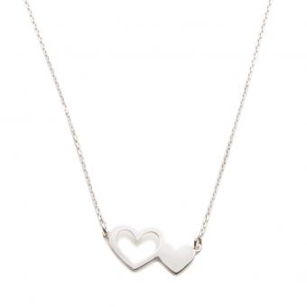 Naszyjnik ROMANTICA srebrny z serduszkami