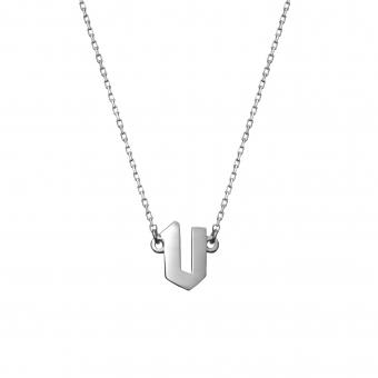 Naszyjnik E. JAK EMOCJE srebrny z literą V