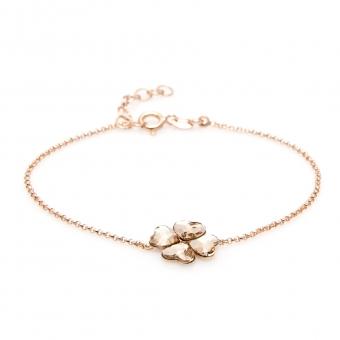 Bransoletka VENUS srebrna pozłacana z kryształami Swarovskiego