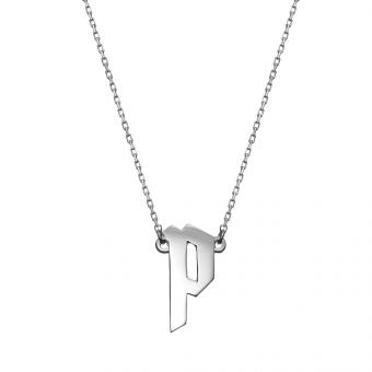 Naszyjnik E. JAK EMOCJE srebrny z literą P