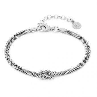 Bransoletka podwójna OVAL srebrna