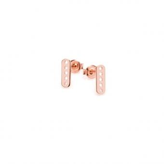 Kolczyki FRAMES srebrne pozłacane na różowo