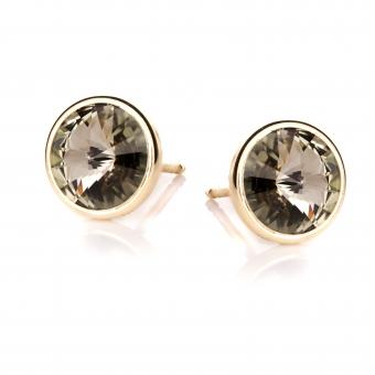 Kolczyki VENUS srebrne pozłacane z kryształem Swarovskiego