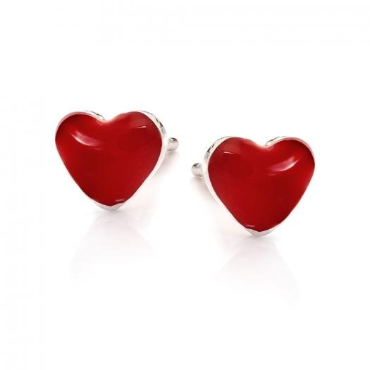 Kolczyki MINI srebrne serce