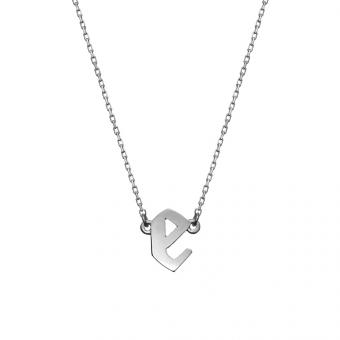 Naszyjnik E. JAK EMOCJE srebrny z literą E