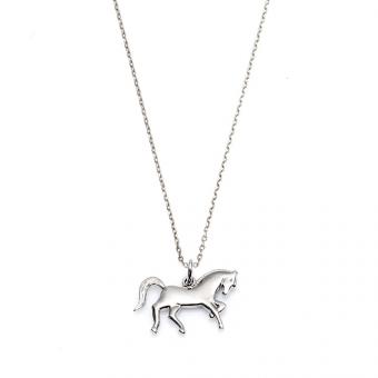 Naszyjnik BELIEVE srebrny z koniem