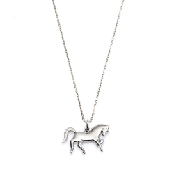 Naszyjnik HOBBY srebrny z koniem