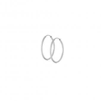 Kolczyki URBAN CHIC srebrne kółka 2 cm